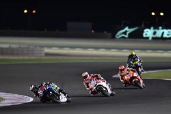 Jorge Lorenzo, Movistar Yamaha MotoGP, Yamaha; Andrea Dovizioso, Ducati Team, Ducati y Marc Márquez,