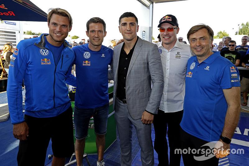 Andreas Mikkelsen, Sébastien Ogier, Marco Huck, boxer, Jari-Matti Latvala, Jost Caputo, Volkswagen Motorsport