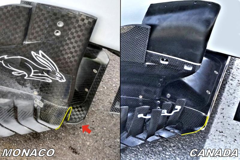 Днище і бічний дефлектор Haas F1 Team VF-18