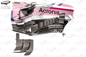 Force India new barge board