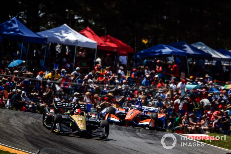 Mid-Ohio went caution-free, but following a first-lap assault by a rival car, Arrow SPM's purpose in putting Hinchcliffe into clean air was to give him the chance to set the race's fastest lap. He succeeded.