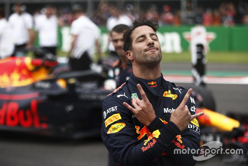 Le poleman Daniel Ricciardo, Red Bull Racing