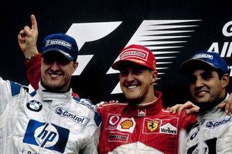 Podio: Michael Schumacher, Ferrari, Ralf Schumacher, BMW Williams, Juan-Pablo Montoya, BMW Williams