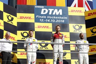 Podium: Race winner René Rast, Audi Sport Team Rosberg, second place Marco Wittmann, BMW Team RMG, third place Gary Paffett, Mercedes-AMG Team HWA