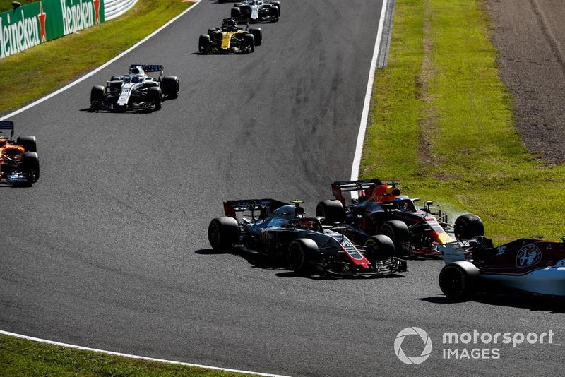 Кевін Магнуссен, Haas F1 Team VF-18, Даніель Ріккардо, Red Bull Racing RB14, Фернандо Алонсо, McLaren MCL33, Ленс Стролл, Williams FW41