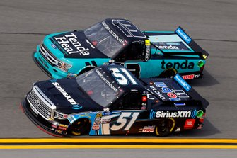 Christian Eckes, Kyle Busch Motorsports, Toyota Tundra SiriusXM and Johnny Sauter, ThorSport Racing, Ford F-150