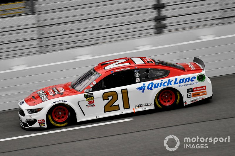 7. Paul Menard, Wood Brothers Racing, Ford Mustang Motorcraft / Quick Lane Tire & Auto Center