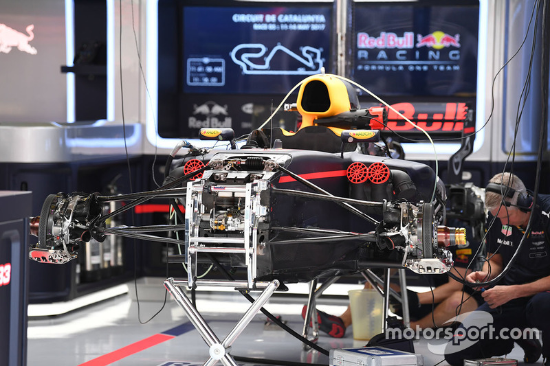 Red Bull Racing RB13 in the garage