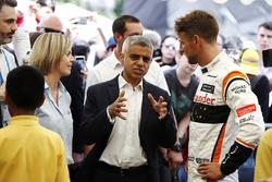 Susie Wolff, Channel 4 F1, Sadiq Khan, Mayor of London, Jenson Button, McLaren
