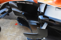 McLaren MCL32 bargeboard detail
