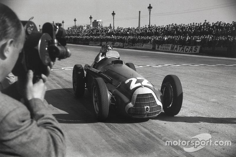 Fangio, el primer ganador del Gran Premio de España
