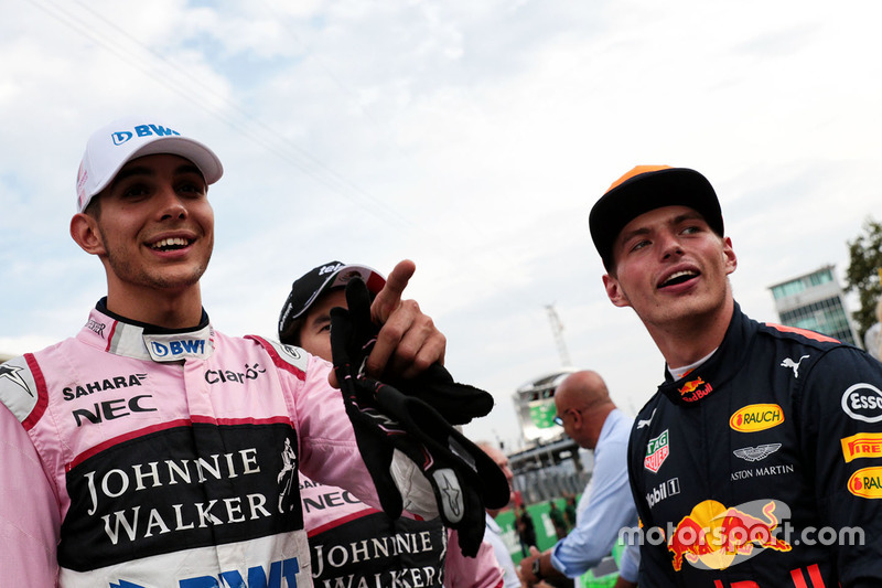 Макс Ферстаппен (Red Bull) і Естебан Окон (Force India)