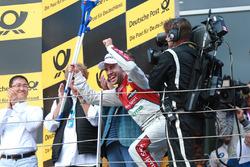 Podium: tweede plaats Mike Rockenfeller, Audi Sport Team Phoenix, Audi RS 5 DTM