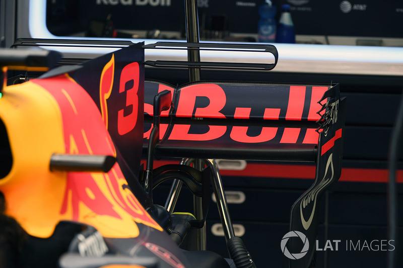 L'aileron arrière de la Red Bull Racing RB13