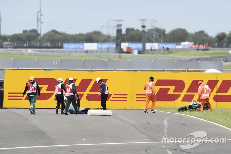 Sturz: Remy Gardner, Tech 3 Racing