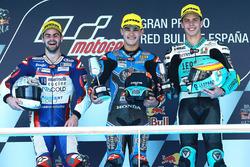 Podium: 1. Aron Canet, Estrella Galicia 0,0; 2. Romano Fenati, Marinelli Rivacold Snipers; 3. Joan Mir, Leopard Racing