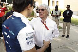 Felipe Massa, Williams, talks with Bernie Ecclestone, Chairman Emiritus of Formula 1
