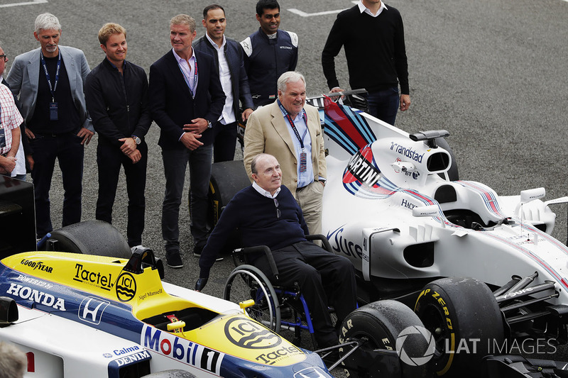 Sir Frank Williams, Patrick Head, Williams FW40, FW11 Honda, Damon Hill, Nico Rosberg, David Coulthard, Pastor Maldonado, Karun Chandhok ve Alex Wurz