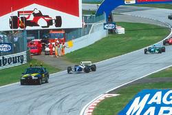 Ayrton Senna, Williams FW16 behind the safety car