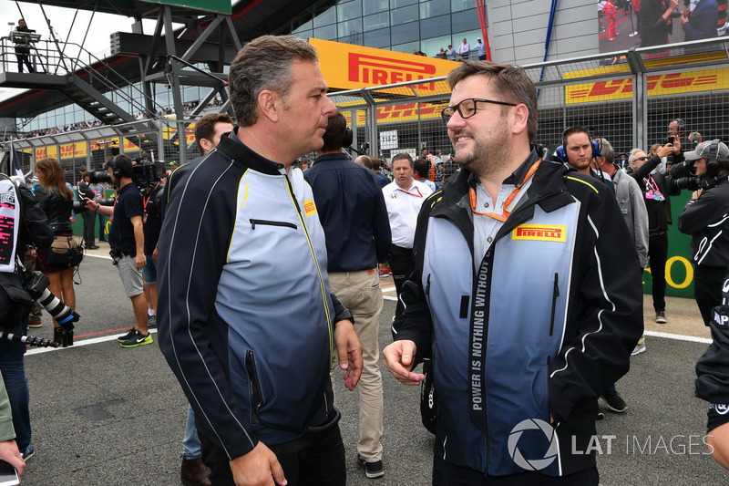 Mario Isola, Pirelli Sporting Director and Paul Hembery, Pirelli Motorsport Director