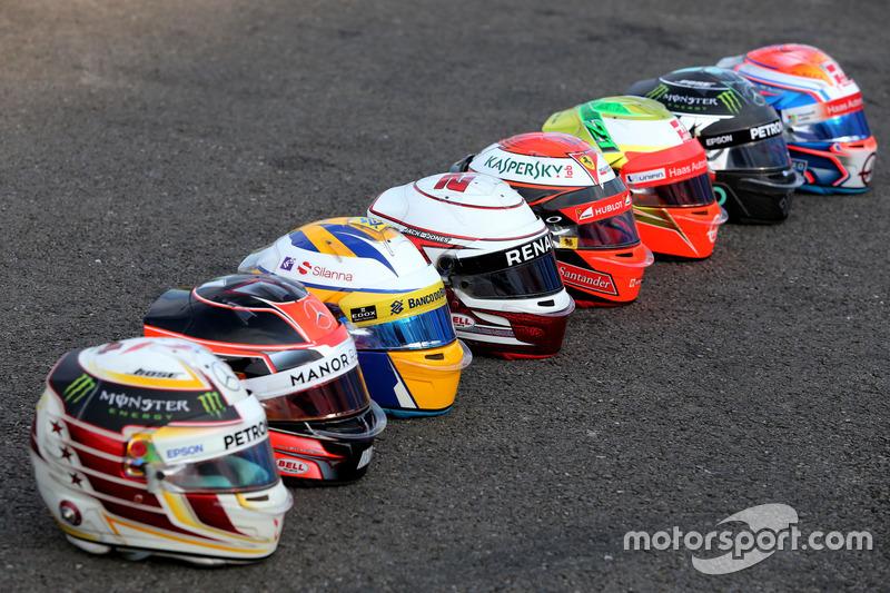 Die Bell-Helme im Formel-1-Fahrerfeld 2016