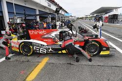 #46 Thiriet by TDS Racing Oreca 05 - Nissan: Pierre Thiriet, Mathias Beche, Ryo Hirakama is pushed back in the garage