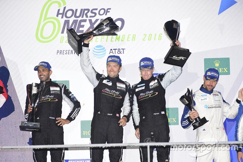 LM GTE Am first place Khaled Al Qubaisi, David Heinemeier Hansson, Patrick Long, Proton Racing