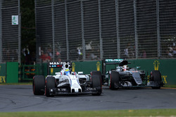 Felipe Massa, Williams FW38 und Lewis Hamilton, Mercedes AMG F1 Team W07