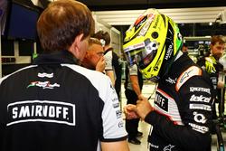 Sergio Pérez, Sahara Force India F1 con Xavi Martos, Sahara Force India F1 Team fisio