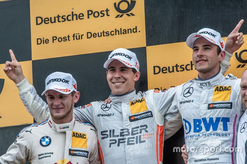Podium, Marco Wittmann, BMW Team RMG, BMW M4 DTM, Robert Wickens, Mercedes-AMG Team HWA, Mercedes-AM