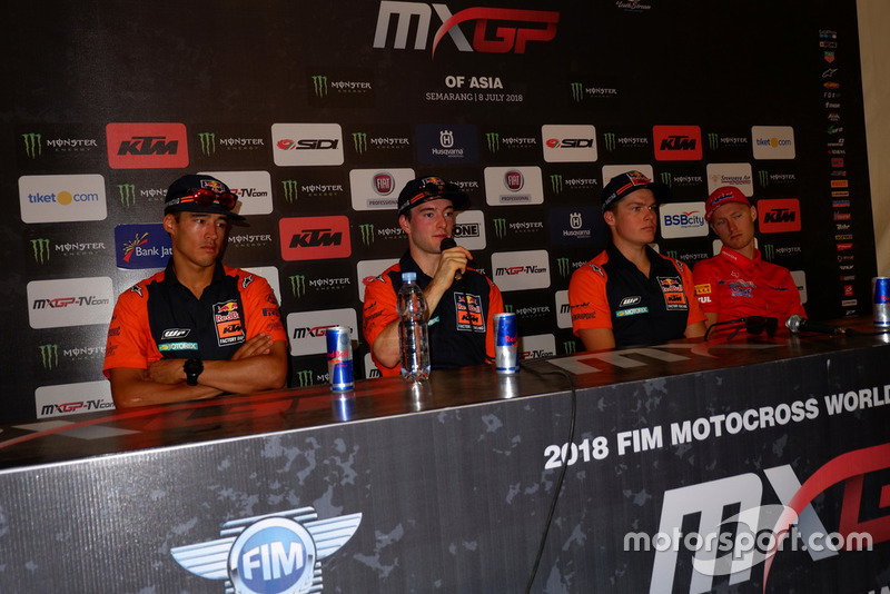 Glenn Coldenhoff, Jeffrey Herlings, Pauls Jonass, KTM Factory Racing y Calvin Vlaanderen, Team HRC