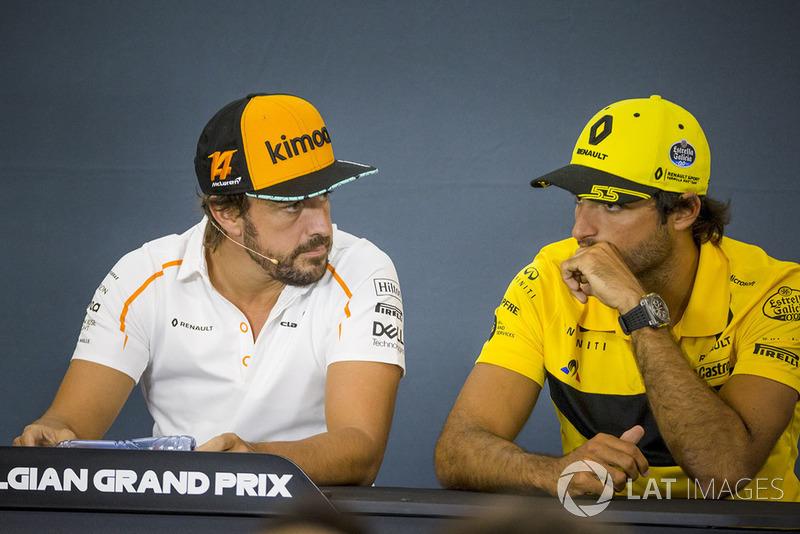 Fernando Alonso, McLaren y Carlos Sainz Jr., Renault Sport F1 Team