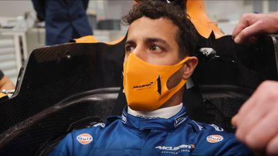 McLaren Ricciardo prova sedile