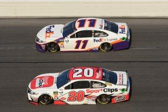 Erik Jones, Joe Gibbs Racing, Toyota Camry Sport Clips, Denny Hamlin, Joe Gibbs Racing, Toyota Camry FedEx Express