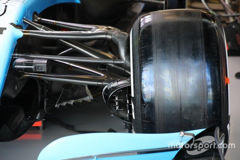 Williams Racing FW42 detalle de la suspensión delantera
