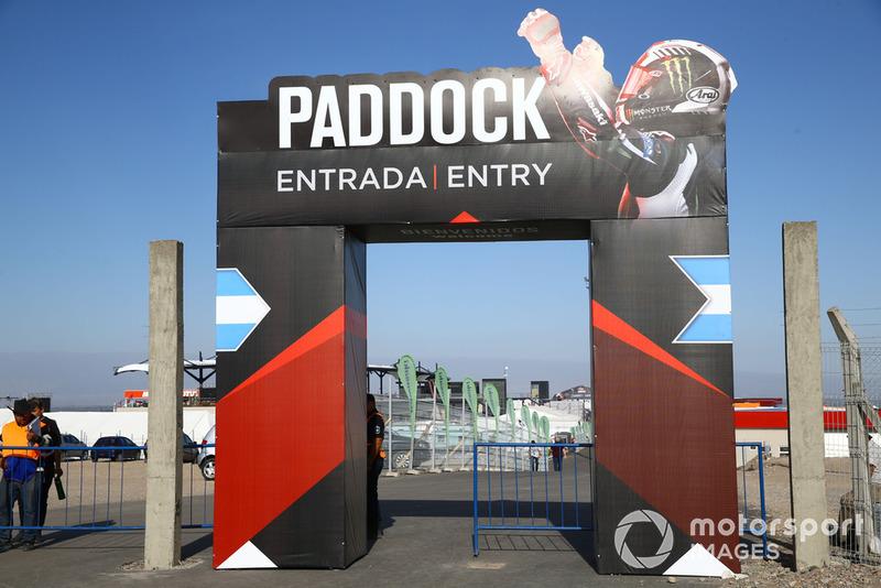 Entrata del Paddock per il pubblico