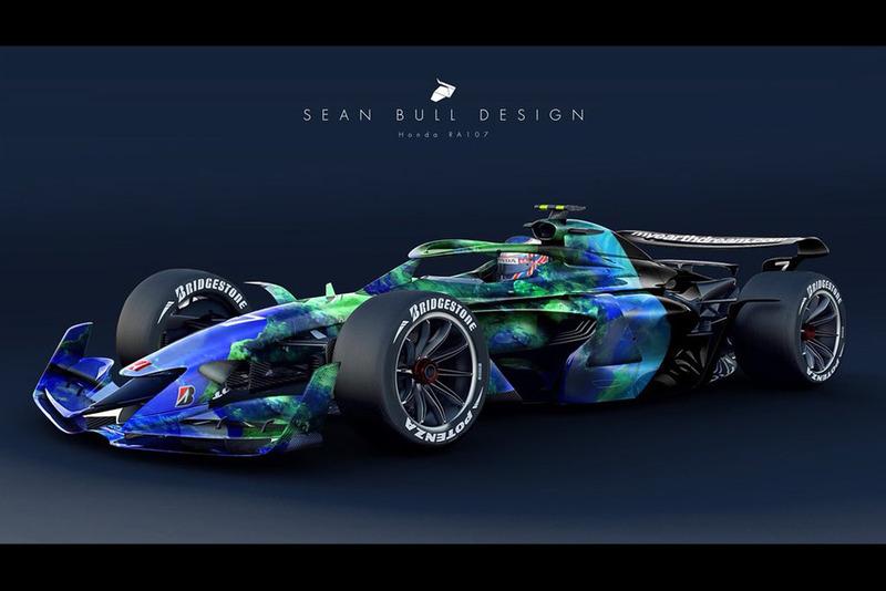 Раскраска Honda RA107 из сезона-2007 для концепта №3
