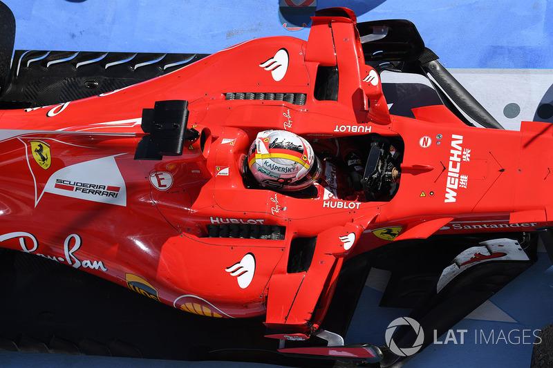 Race winner Sebastian Vettel, Ferrari SF70-H