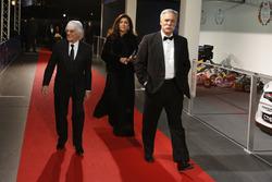 Bernie Ecclestone, wife Fabiana Flosi and Chase Carey