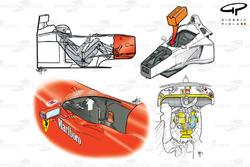 Ferrari F399 (650) 1999 Schumacher Silverstone crash graphics