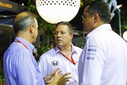 Jonathan Neale, Managing Director, McLaren, Zak Brown, Executive Director, McLaren Technology Group, Eric Boullier, Racing Director, McLaren