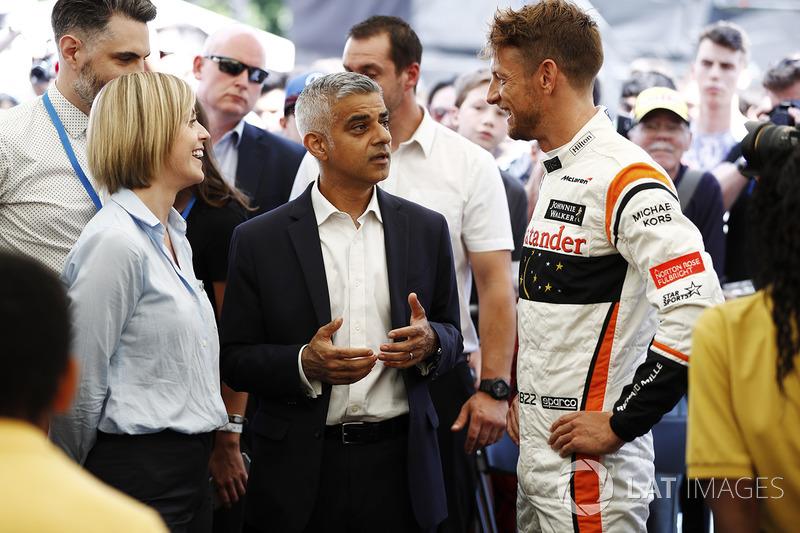 Сьюзі Вольфф, Channel 4 F1, мер Лондона Садік Хан, Дженсон Баттон, McLaren
