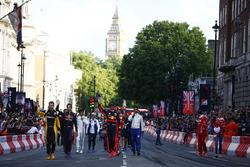 Los pilotos en las calles de Londres