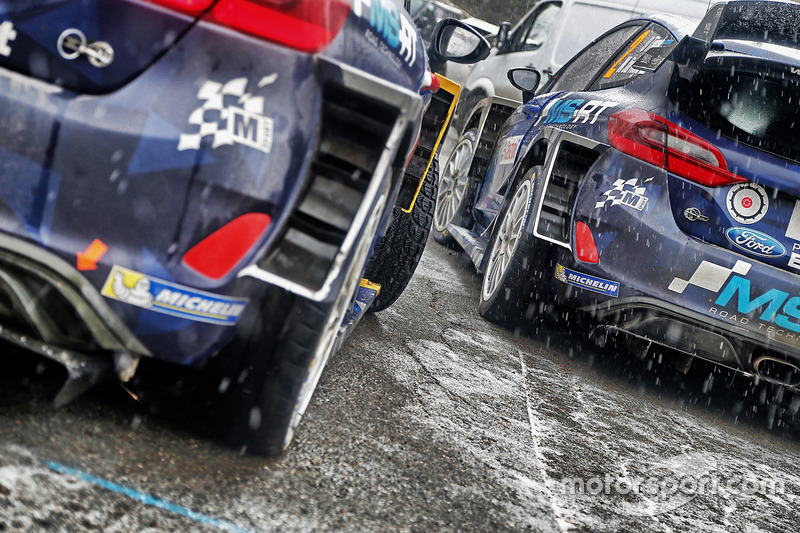 M-Sport cars after Rally Monte Carlo