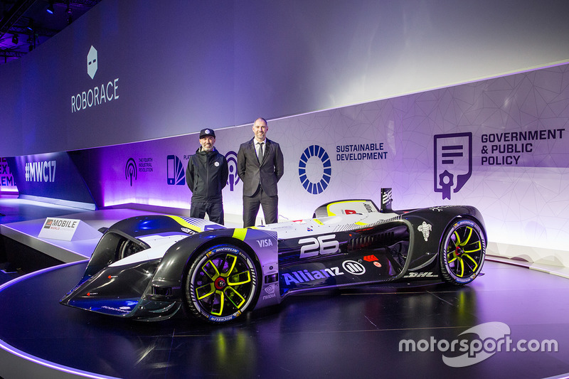 Denis Sverdlov and Daniel Simon at the RoboRace presentation
