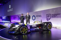 Denis Sverdlov and Daniel Simon at the RoboRace presentation