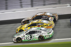 Corey LaJoie, BK Racing Toyota; Landon Cassill, Front Row Motorsports Ford; Cole Whitt, TriStar Motorsports Ford