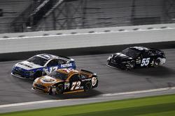 Cole Whitt, TriStar Motorsports Ford; Ty Dillon, Germain Racing Chevrolet; Reed Sorenson, Premium Motorsports Toyota