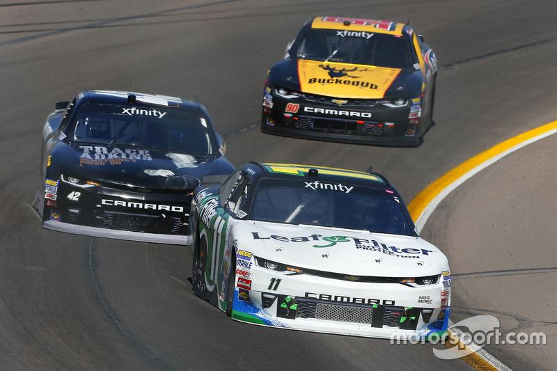 Blake Koch, Kaulig Racing, Chevrolet; Tyler Reddick, Chip Ganassi Racing, Chevrole; Mario Gosselin, Chevrolet