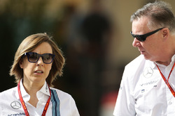 Claire Williams, Williams Deputy Team Principal with Mike O'Driscoll, Williams Group CEO